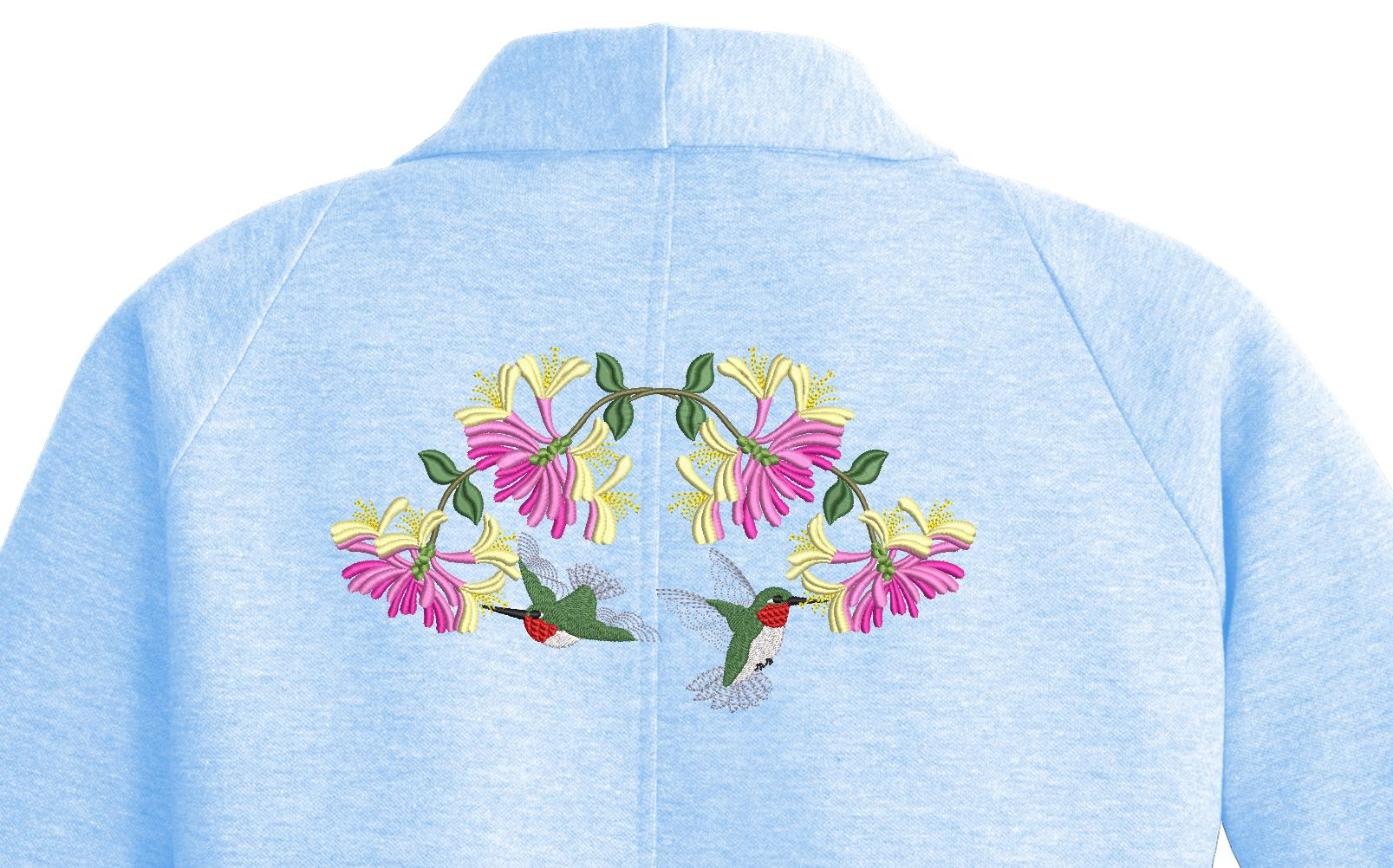 honeysuckle hummer shirt back 6x10