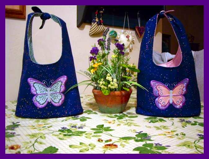 Butterfly Applique Bags